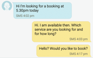 number 6 how not to text your escort