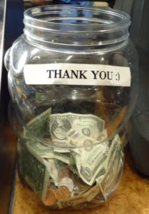 Tip jar for use in Clients code of conduct